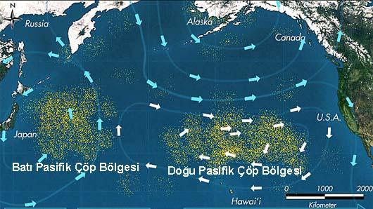 Pasifik çöp girdabı ile ilgili görsel sonucu